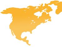 Karte von Nordamerika