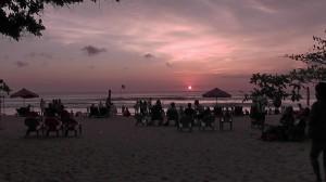 Sonnenuntergang am Kuta Beach