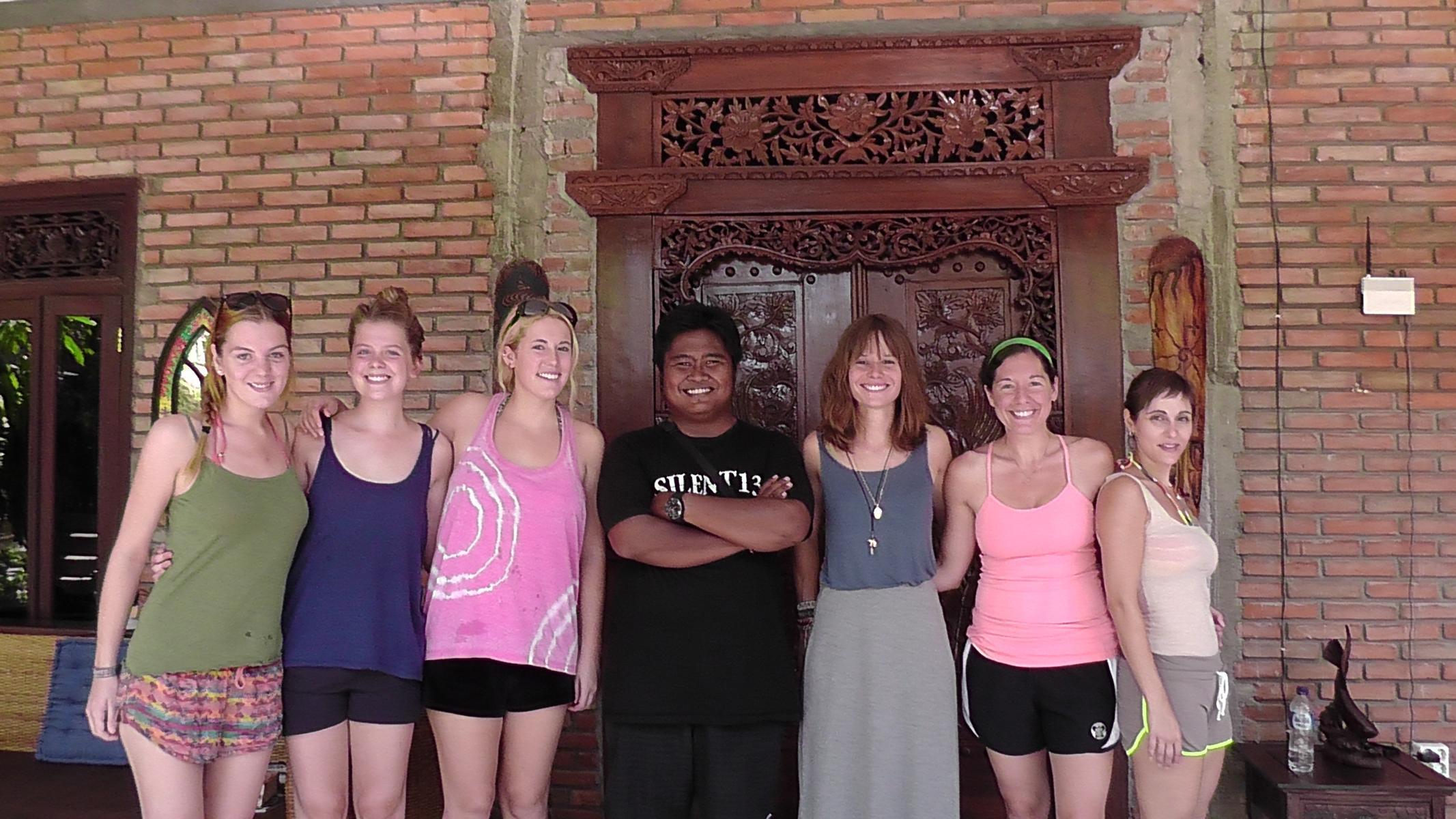 Meeting the volunteers in their home in Ubud