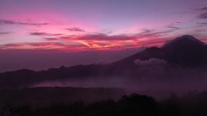Sonnenaufgang am Mount Batur