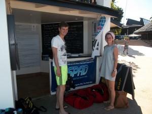 at the dive shop
