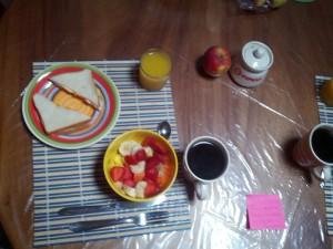 Frühstück Gastfamila Costa Rica