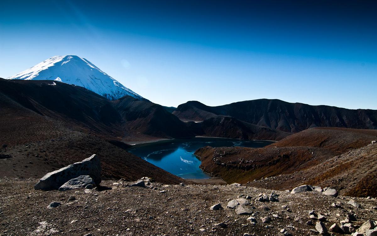 Upper Tama Lake, Mt. Ngauruhoe