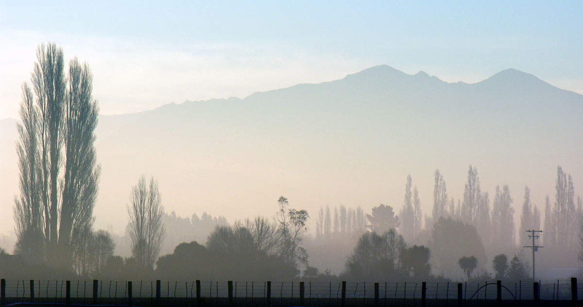 Nebel in South Canterbury