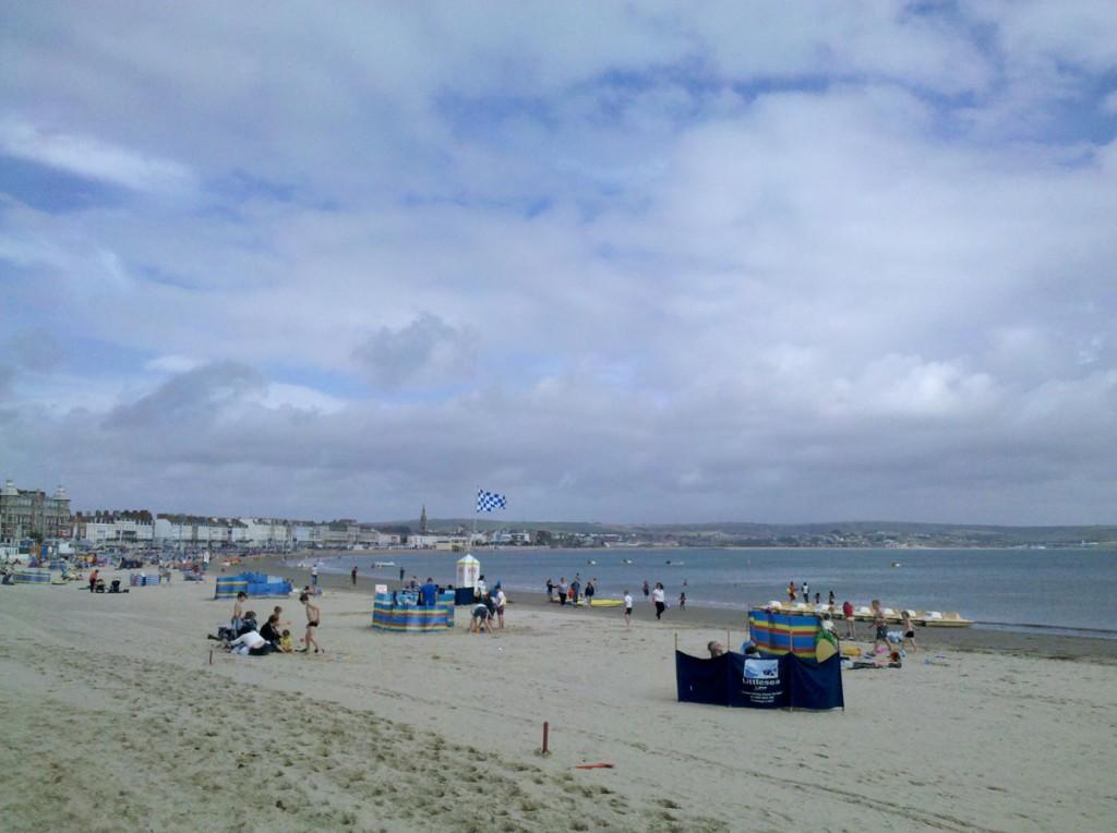 Der Strand von Weymouth