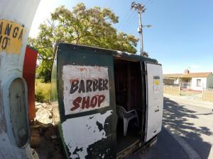 Friseurladen im Township Langa