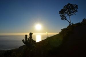 Sonnenuntergang während der Wanderung auf den Lion's Head