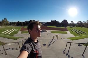 Platz vor dem Australian War Memorial
