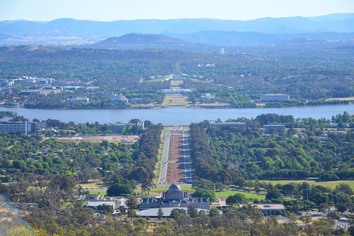Canberra – die symmetrische Hauptstadt Australiens