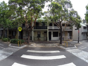 Typische Häuser in Surry Hills und Darlinghurst