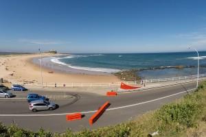 Nobbys Beach in Newcastle und die Ocean Baths