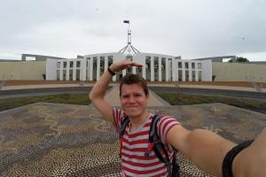 Dreckswetter am australischen Parlament