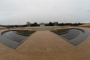 Platz vor dem Parlament in Canberra