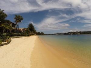Einsamer Strand auf dem Weg nach Manly