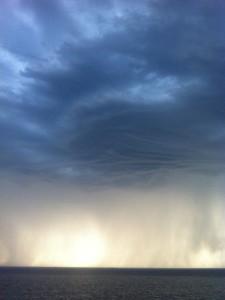 Heftige Gewitter wie hier in Newcastle sind in der Region keine Seltenheit