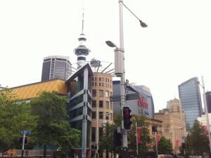 Das Zentrum von Auckland mit dem Sky Tower