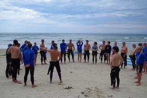 Besprechung der Surf-Verhältnisse vor dem Surf: 1. Tide, 2. Wind, 3. Wave