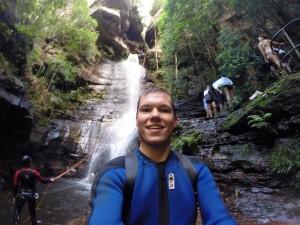 Nach dem 30-Meter-Wasserfall-Abseiling