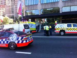 Überall Polizei in Sydneys Zentrum