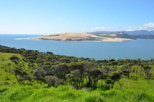 Tolle Aussicht auf den natürlichen Hafen von Hokianga