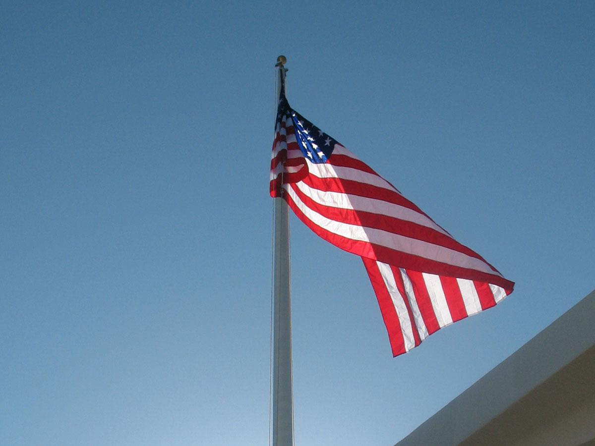 USA Flagge im Wind