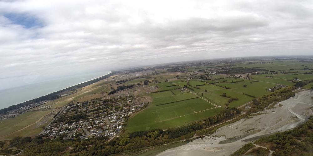 Pazifik, Canterbury Plains und Vororte von Rangiora