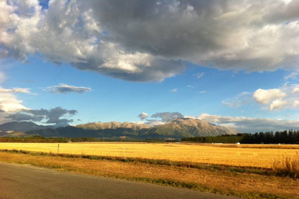 Der Mount Hutt und die Canterbury Plains in Methven