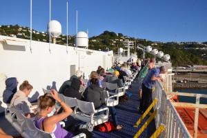 Im Hafen von Wellington: Direkt auf die Sonnenterrasse