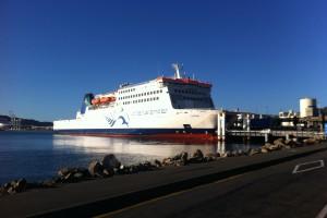 Die riesige Interislander-Fähre von Wellington nach Picton