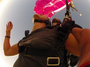 Pinker Fallschirm, na toll!