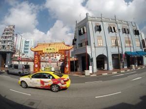Stadt-Rundfahrt durch Singapur