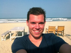 Leerer Strand in Da Nang