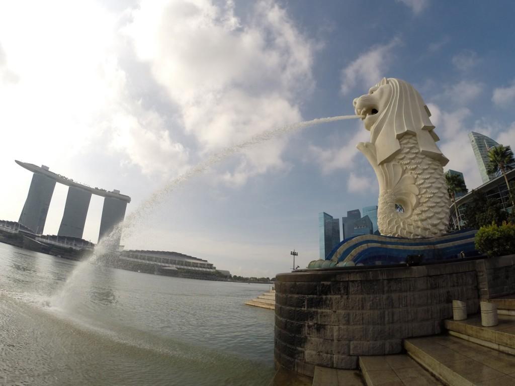 Mix aus Löwe und Meerjungfrau: Merlion in Singapur