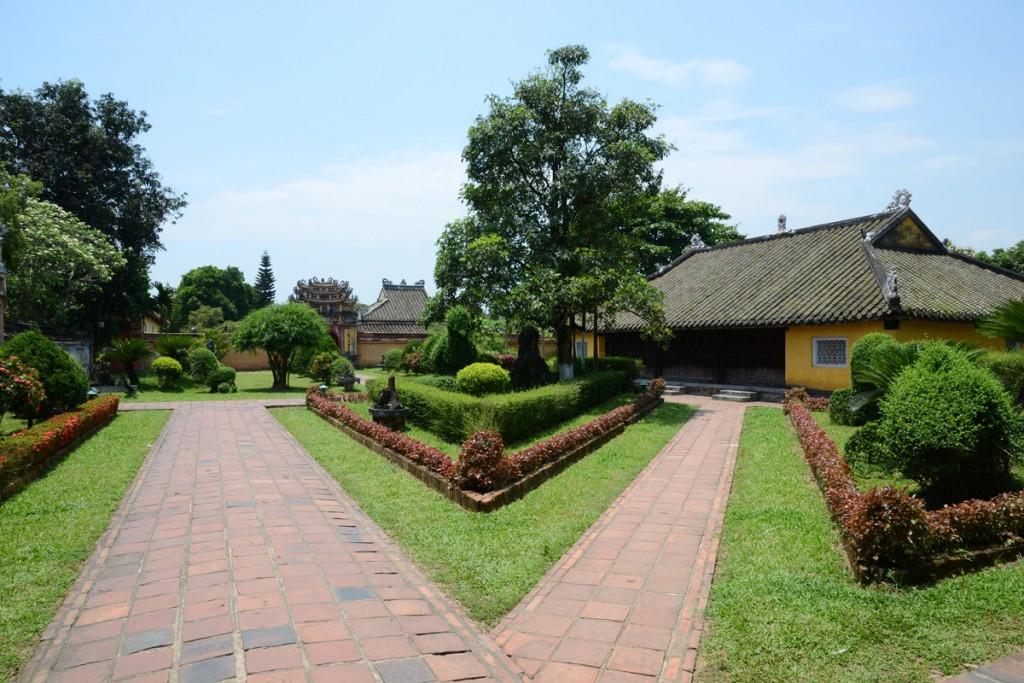 Schön angelegte Gärten in Hues Zitadelle