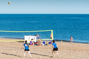 Volleyball am Strand in Exmouth