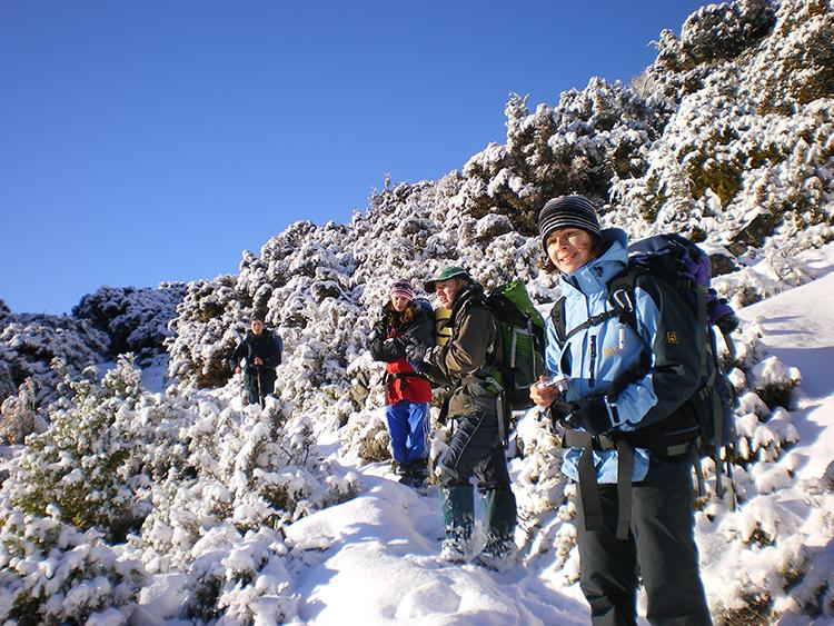 Winterwanderung auf dem Mt Somers