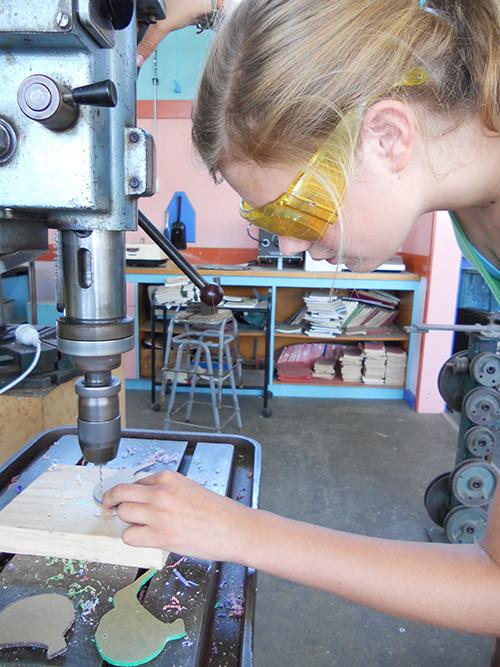 Holzarbeit an der Motueka High School