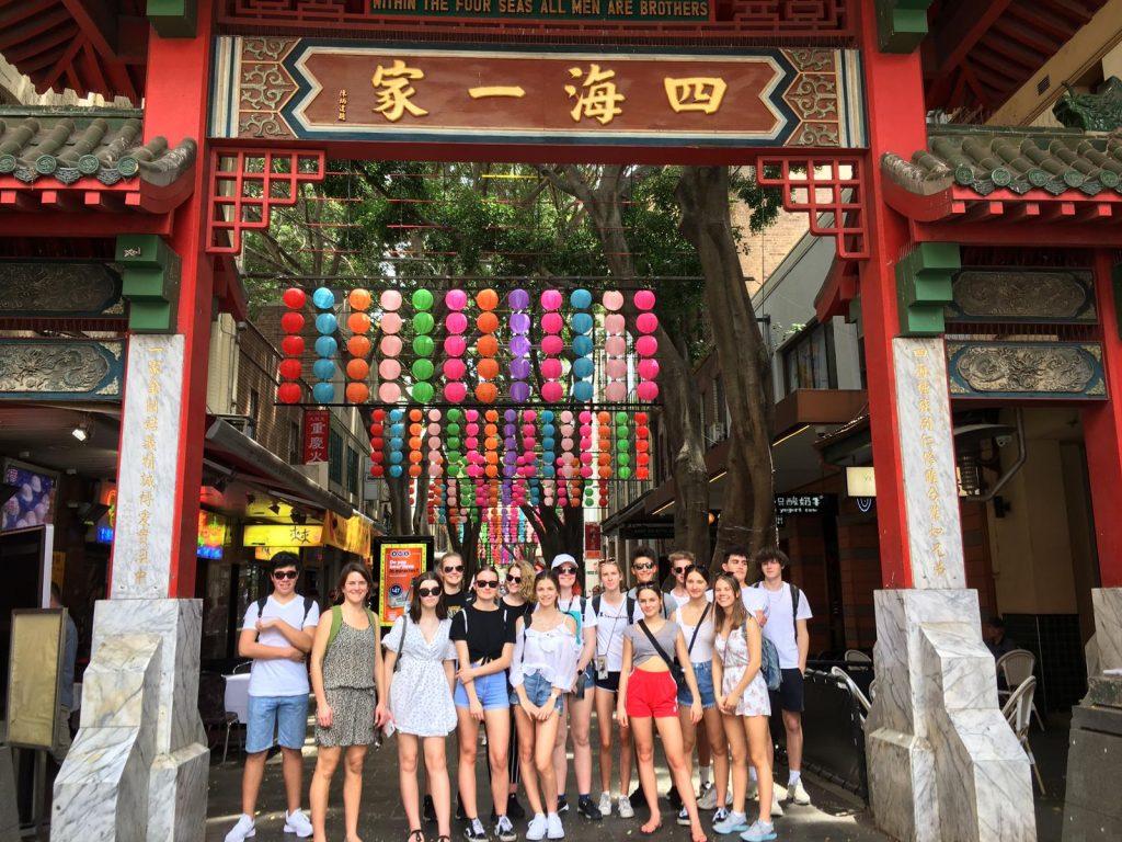 Schüleraustausch-Gruppe bei ihrer Orientierungsveranstaltung in Sydney