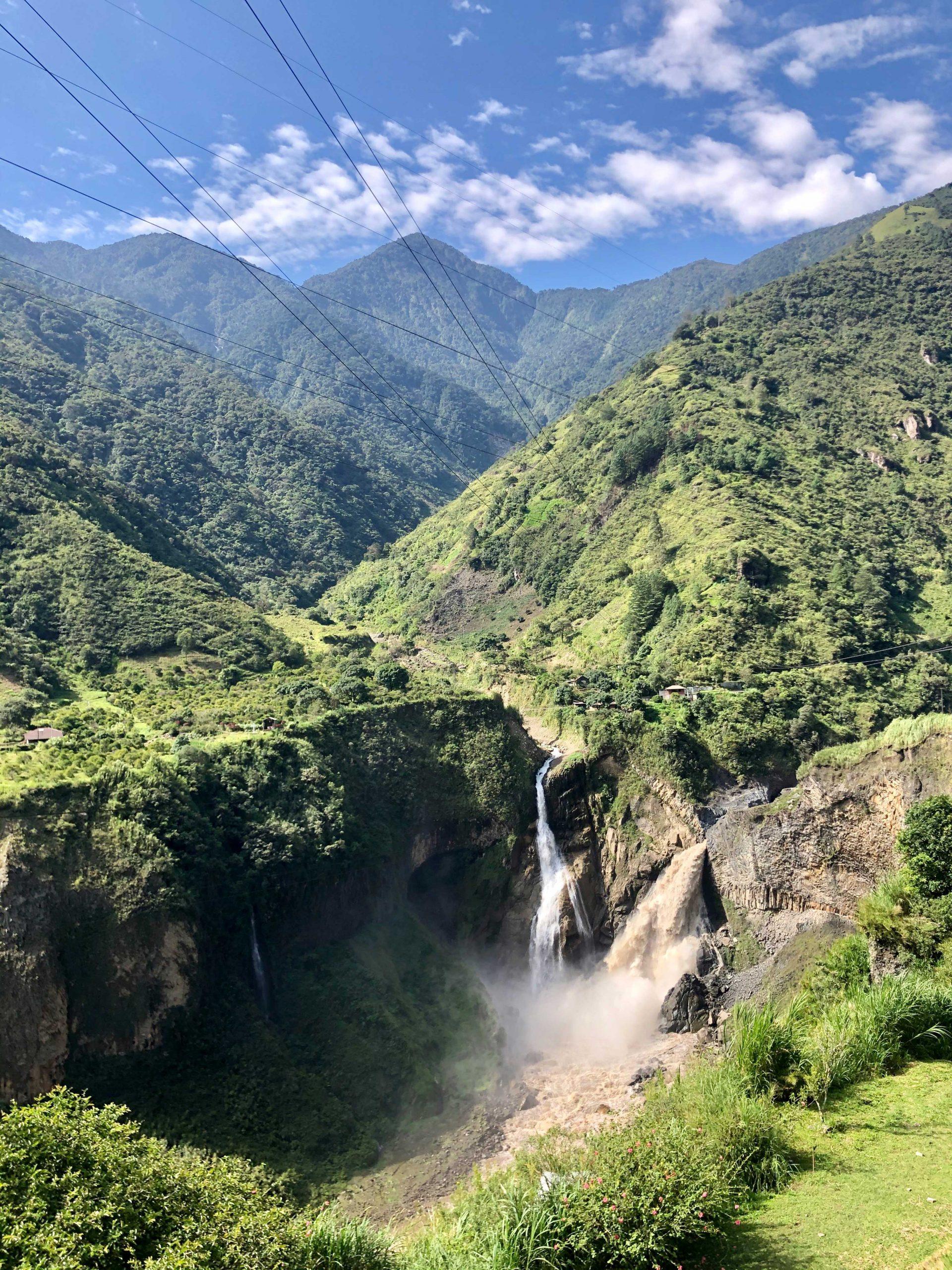 Wasserfälle in Baños.