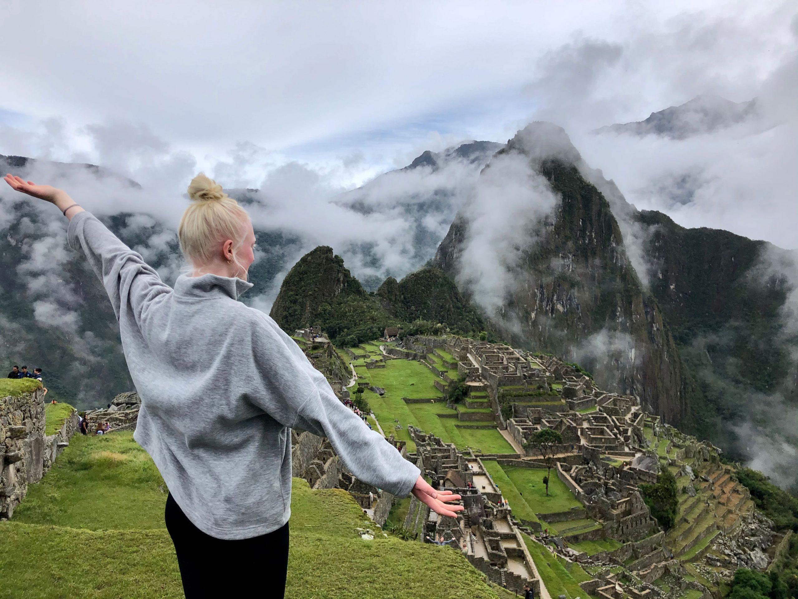 Ausblick auf Machu Picchu.